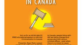 HIV and Criminalization in Canada
