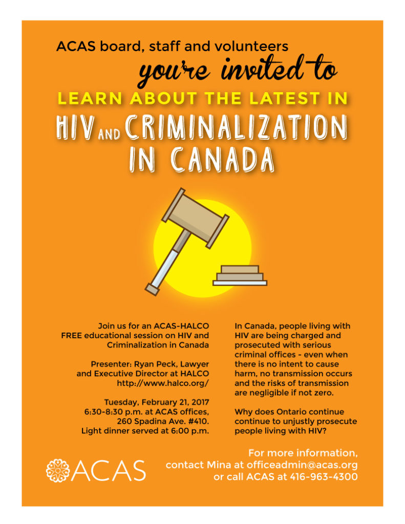 HIV and Criminalization in Canada